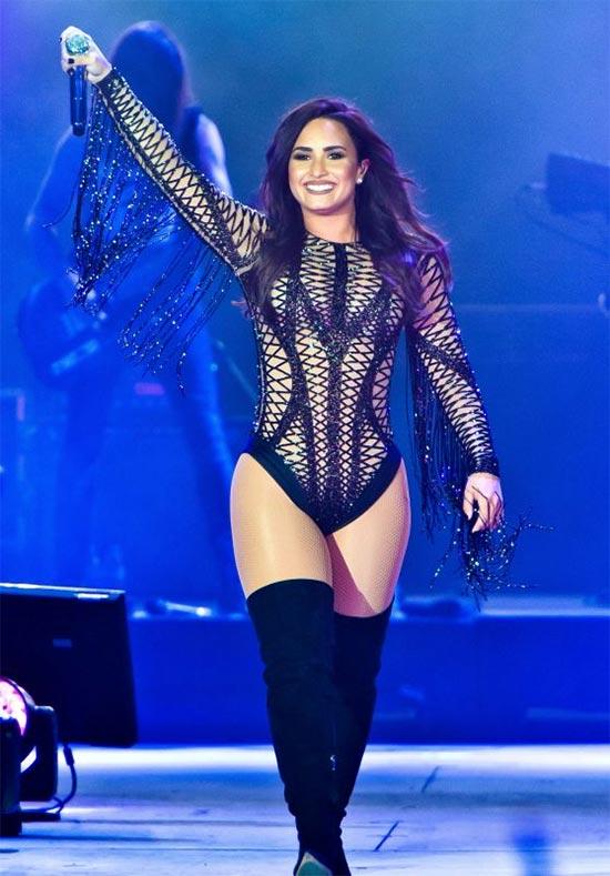 Demi Lovato Accuses President Trump of Dividing America